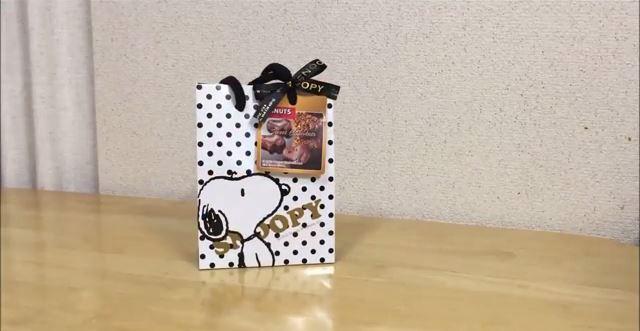スヌーピーバレンタインチョコショコラ手提げ3