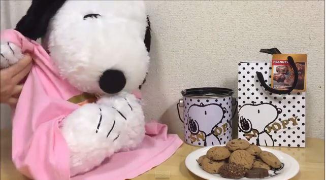 スヌーピーバレンタインチョコ喜ぶ5