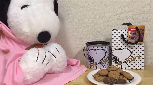 スヌーピーバレンタインチョコ喜ぶ6
