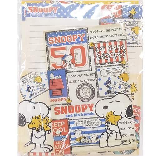 スヌーピーメッセージカードレターセット5
