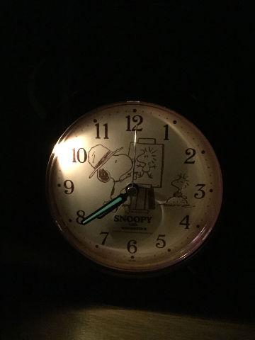 スヌーピー目覚まし時計10-1