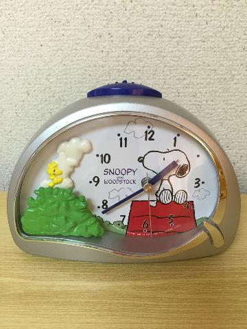 スヌーピー目覚まし時計2-1