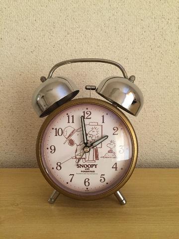スヌーピー目覚まし時計8-1