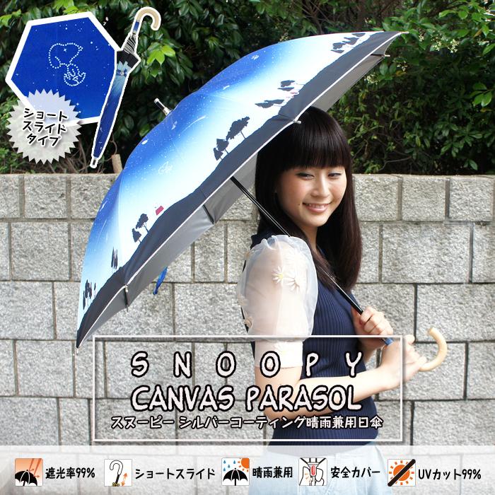 スヌーピー折り畳み傘日傘3