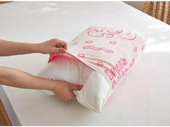 スヌーピー枕カバー3色(ピンク茶色青)3-1