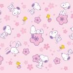 スヌーピー公式サイト壁紙待受画像2015年4月春さくら桜ピンクかわいい
