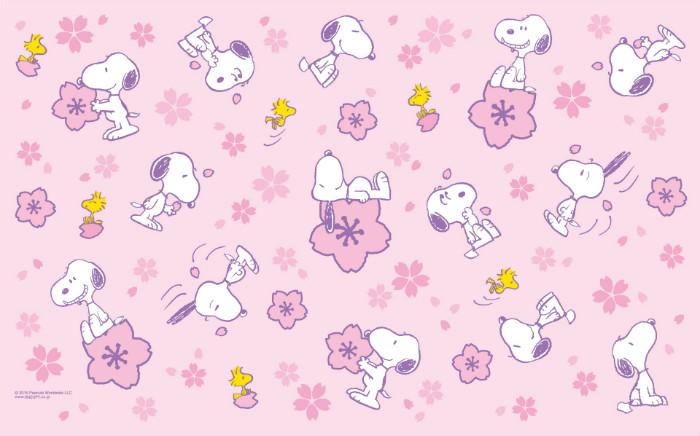 桜とスヌーピー