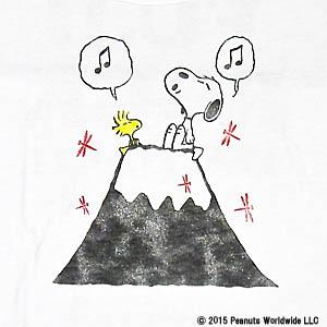 スヌーピーフジロックコラボTシャツ富士山3