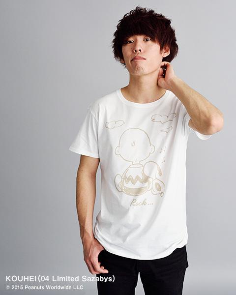 スヌーピーロキノンTシャツ04 Limited Sazabys2