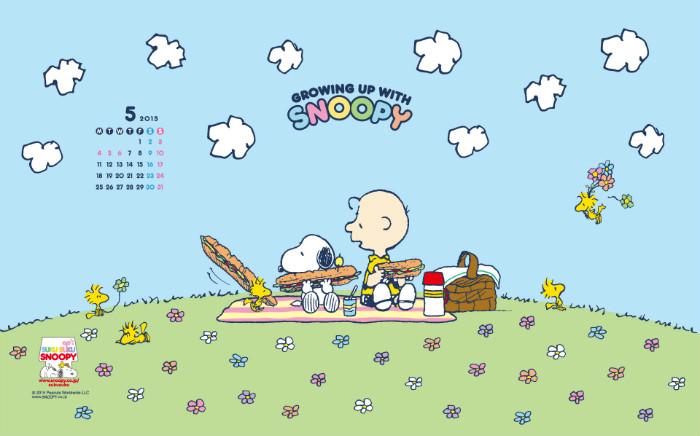 スヌーピー公式壁紙2015.5.2-1