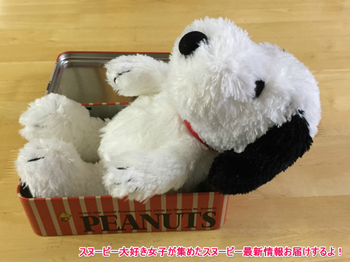 スヌーピー缶箱ブリキフリーボックス10-1