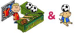 スポーツショップとミニブタ