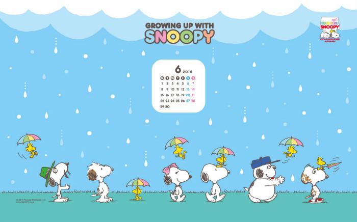 スヌーピー公式壁紙2015.6.1-1