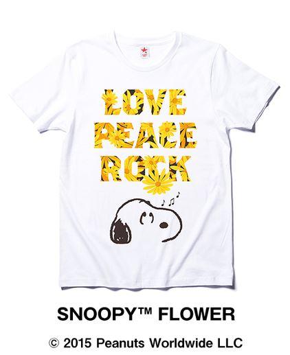 スヌーピーロキノンコラボTシャツひまわり1