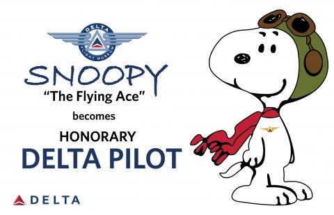 スヌーピーデルタ航空名誉パイロットフライングエース2