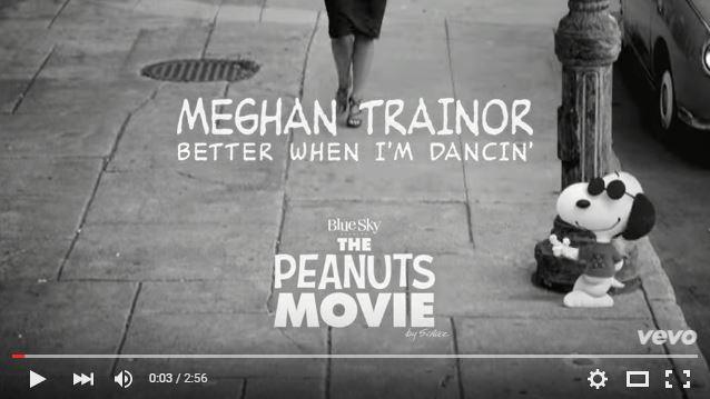 スヌーピー映画「I LOVE スヌーピー」テーマ曲Meghan TrainorBetter When I'm Dancin'1