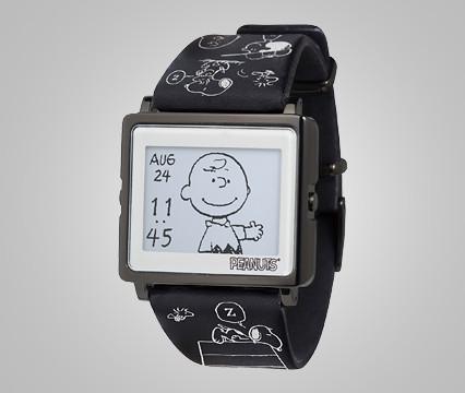 スヌーピー時計スマートキャンバスブラックエディション2