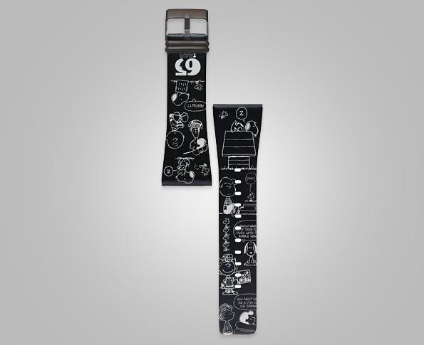 スヌーピー時計スマートキャンバスブラックエディション5