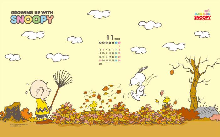 スヌーピー公式壁紙2015.11.1