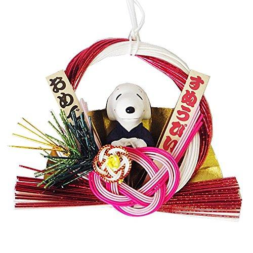 スヌーピーしめ飾りお正月新年ビーグル犬足跡4