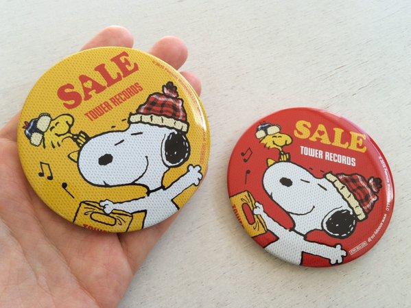スヌーピータワレコ缶バッジ非売品1