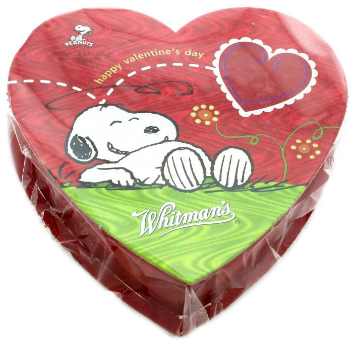 スヌーピーバレンタインチョコレートホイットマンズハート食べ過ぎ1