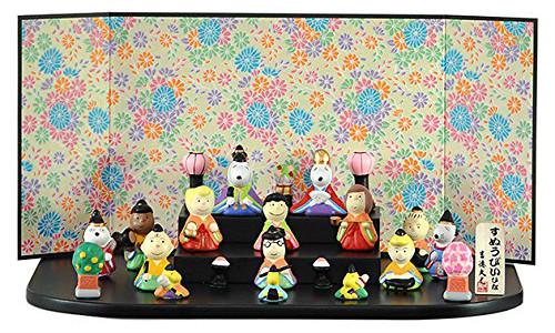 スヌーピーひな祭り雛人形お内裏様ベルおひなさまピーナッツキャラクターオールスターズ3段15人1