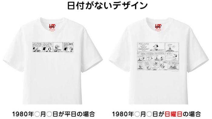 スヌーピーユニクロTシャツトートバッグ日付ピーナッツコミック3