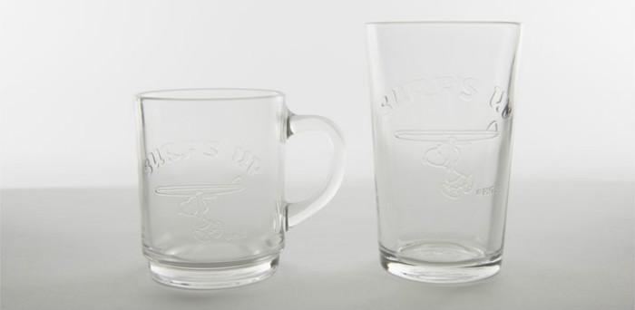 スヌーピーSPDコラボDURALEXグラス日焼けスヌーピー透明1