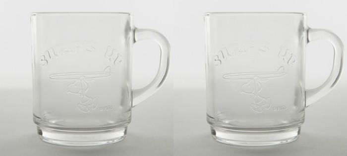 スヌーピーSPDコラボDURALEXグラス日焼けスヌーピー透明2