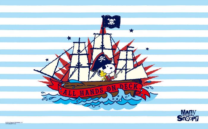 スヌーピー公式壁紙201607海賊キャプテンパイレーツ