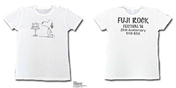 スヌーピーTシャツフジロック2016コラボ1