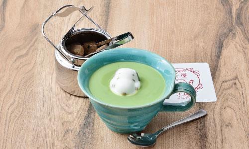 スヌーピー茶屋小樽店北海道ドリンクメニューミルク抹茶ラテマシュマロ1