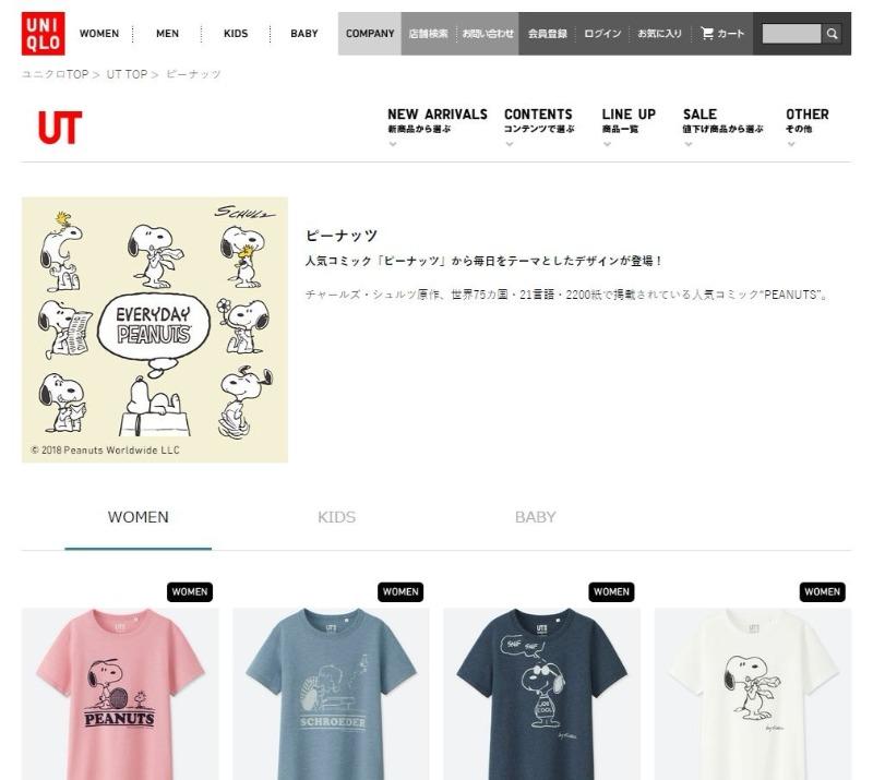 スヌーピーTシャツユニクロコラボ2018春夏エブリデイピーナッツ刺しゅう1