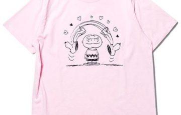 スヌーピーロキノンコラボTシャツ2018ハートピンクチャーリーブラウンぐるぐる1