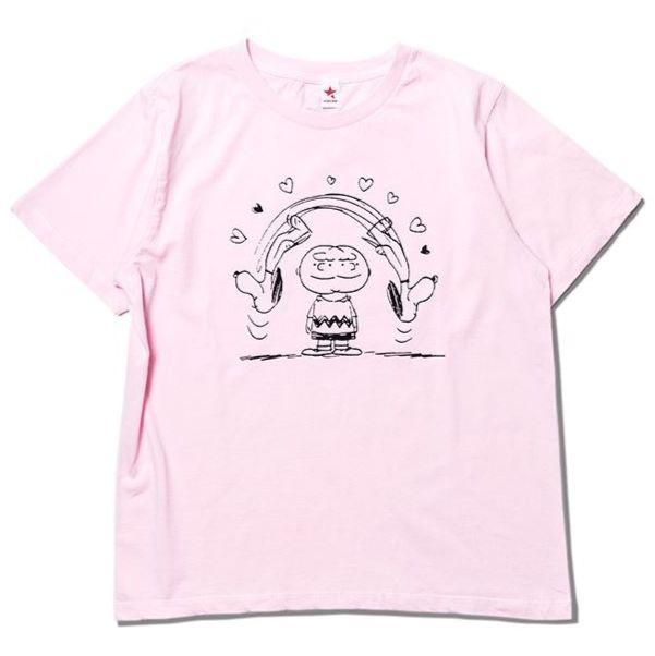 スヌーピー&ロキノンコラボTシャツ2018★飛び回るスヌ柄♬