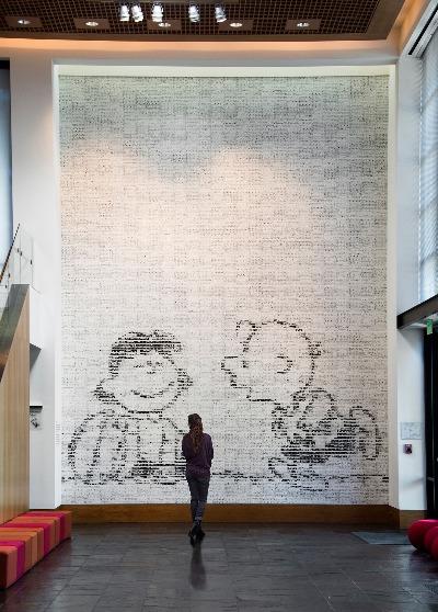 スヌーピーアメリカシュルツ美術館ミュージアム聖地ピーナッツコミックアート1