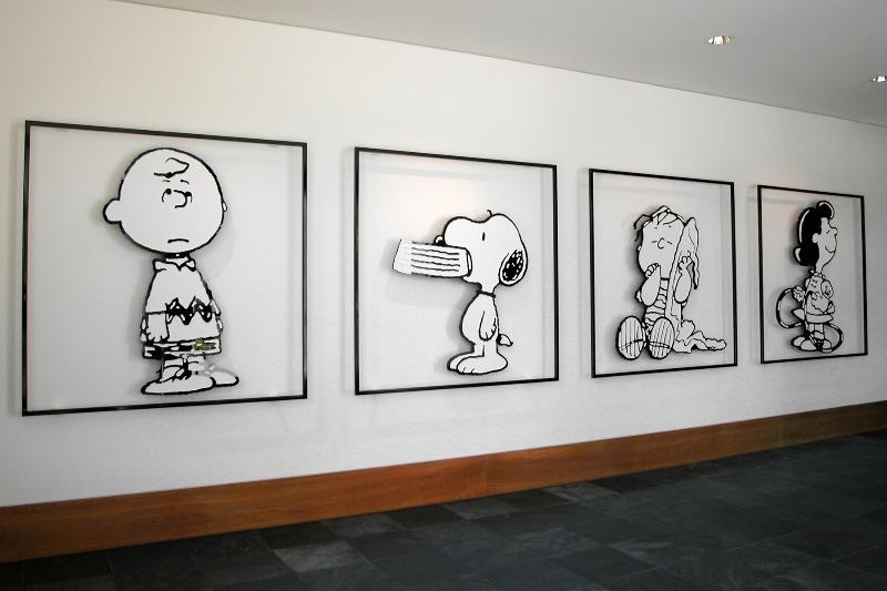 スヌーピーアメリカシュルツ美術館ミュージアム聖地ロビーイラストかわいい1