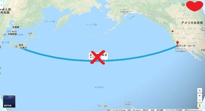 スヌーピー日本東京アメリカサンタローザ直行便ない飛行機移動交通1