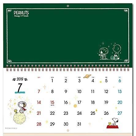 スヌーピー壁掛けカレンダー2019かわいいポップPOP黒板スケジュール3