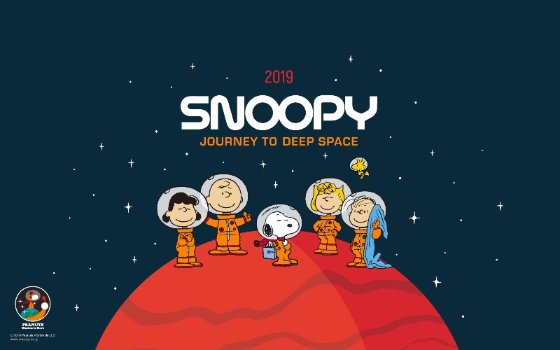 スヌーピー公式サイト壁紙待受画像2019年7月アストロノーツ月上陸50周年1