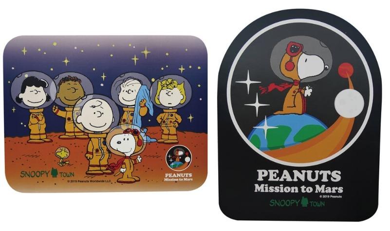スヌーピーアストロノーツ50周年グッズ2019かわいいオレンジ宇宙服マウスパッド1