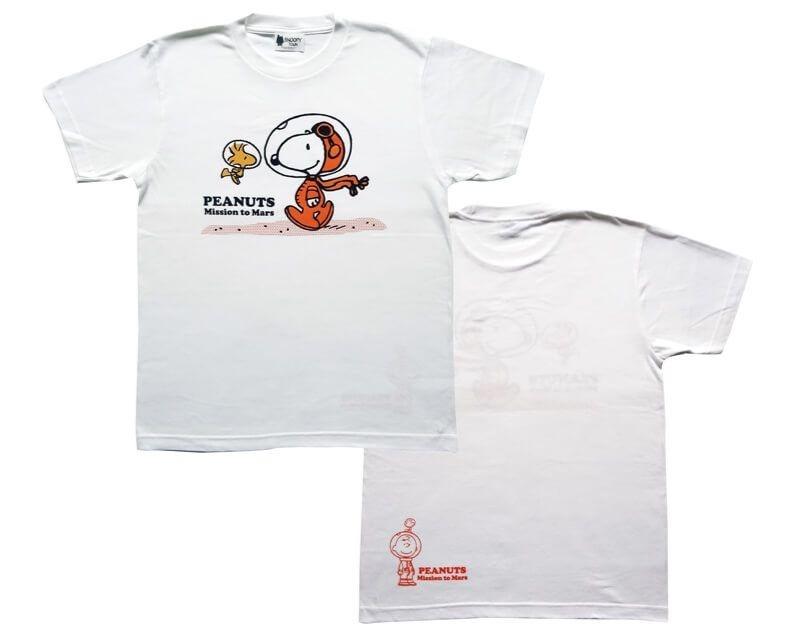 スヌーピーアストロノーツ50周年グッズ2019かわいいオレンジ宇宙服火星Tシャツ1