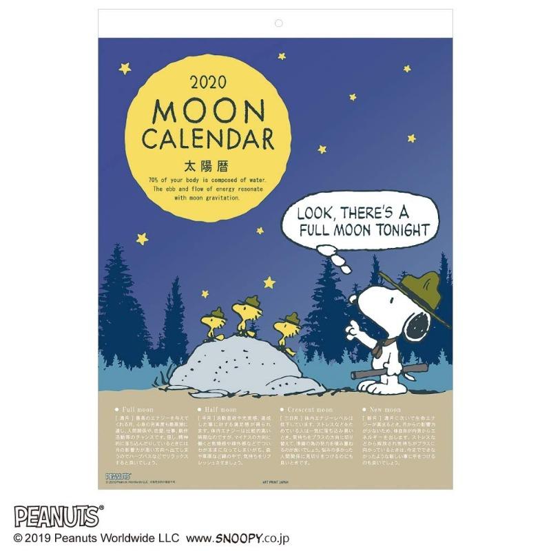 スヌーピー壁掛けカレンダー2020かわいいイラストビーグルスカウト太陽暦1