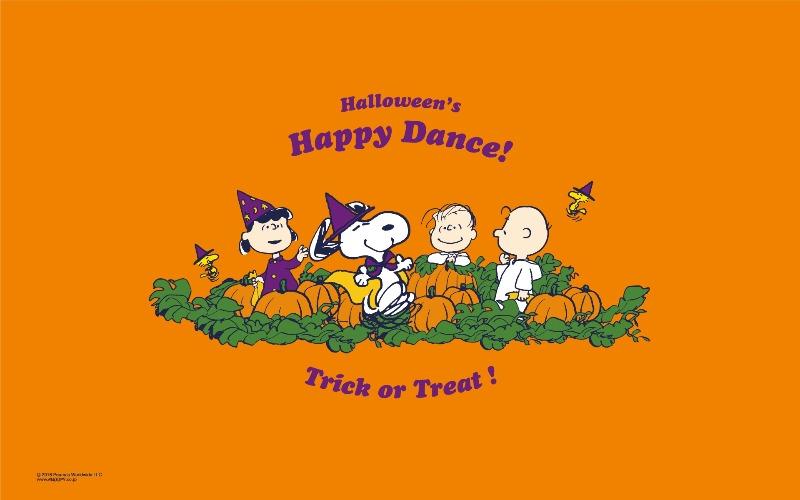 スヌーピー公式サイト壁紙待受画像2016年10月ハロウィンハッピーダンス1
