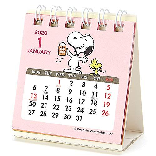スヌーピー卓上カレンダー2020かわいいミニサイズ小型リング書き込みなし1
