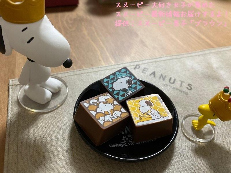 スヌーピーショコラ感想レポ2019京都嵐山かわいい和コラボチョコブラウン9