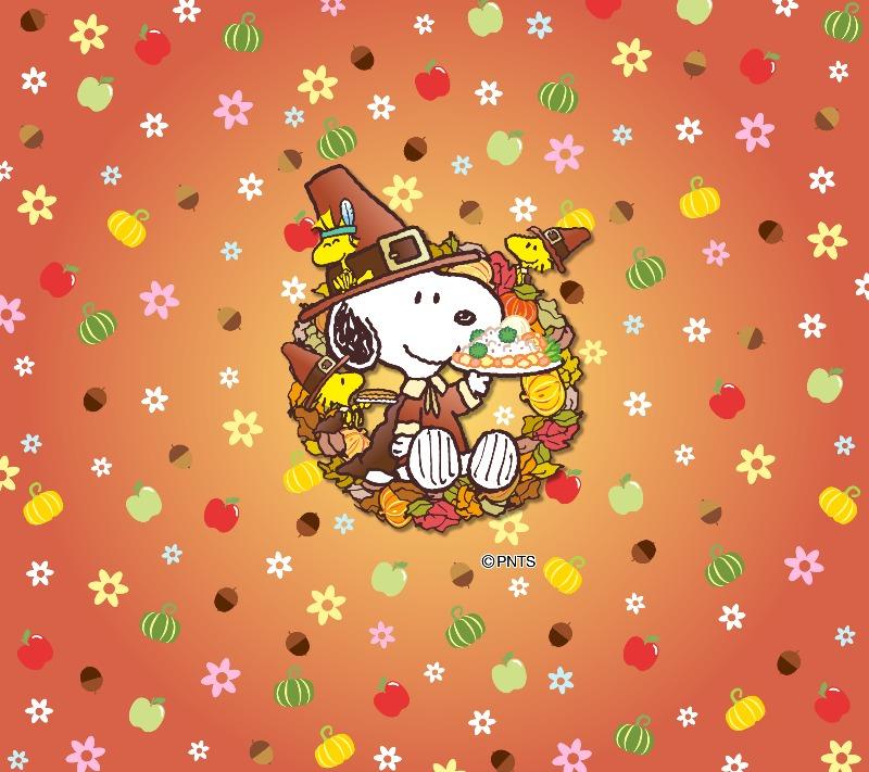 スヌーピーパーク壁紙待受画像2019年11月感謝祭食欲の秋食いしん坊1
