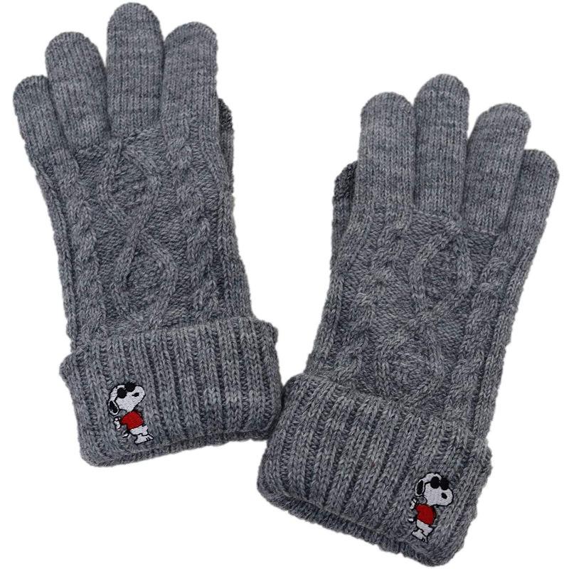 スヌーピー手袋2019冬かわいい暖かい刺しゅうジョークールサングラス大学生1