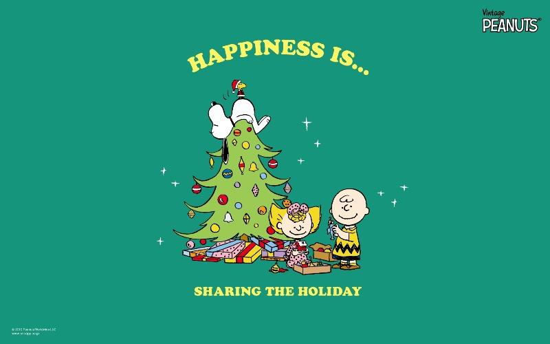スヌーピー公式サイト壁紙待受画像2019年12月クリスマスツリー星スター寝る1